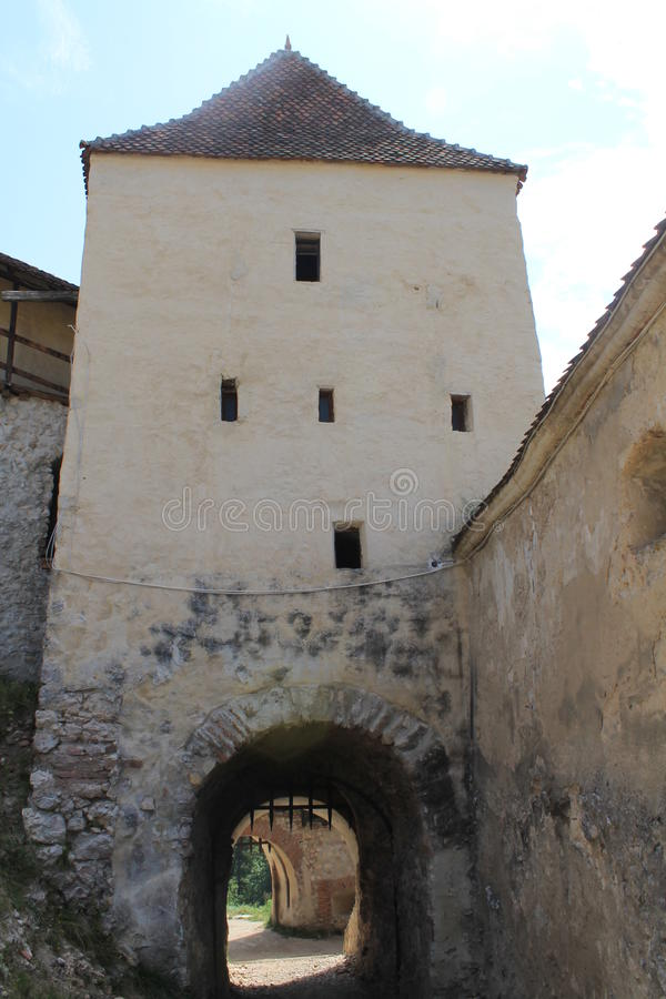 Rasnov城堡(庭院) 免版税库存照片