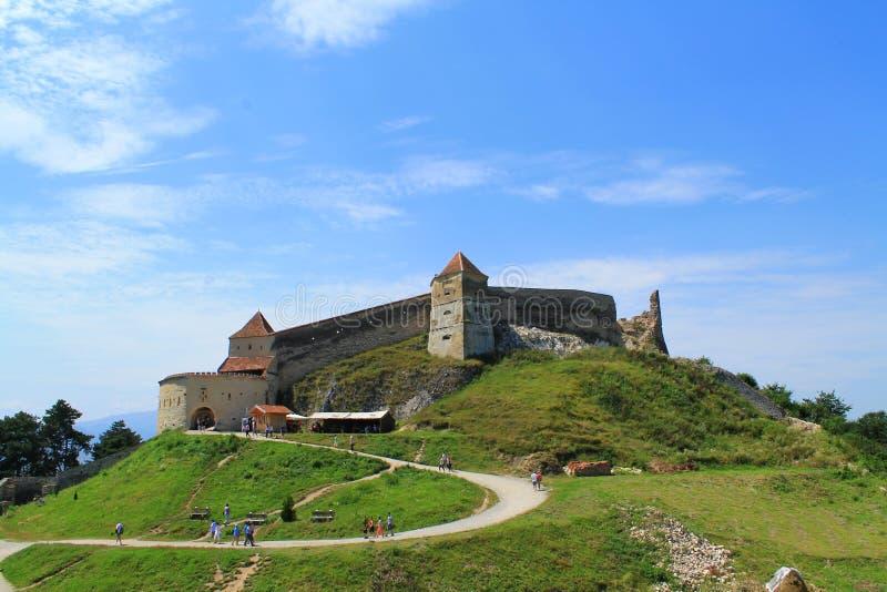 Rasnov城堡 免版税库存照片