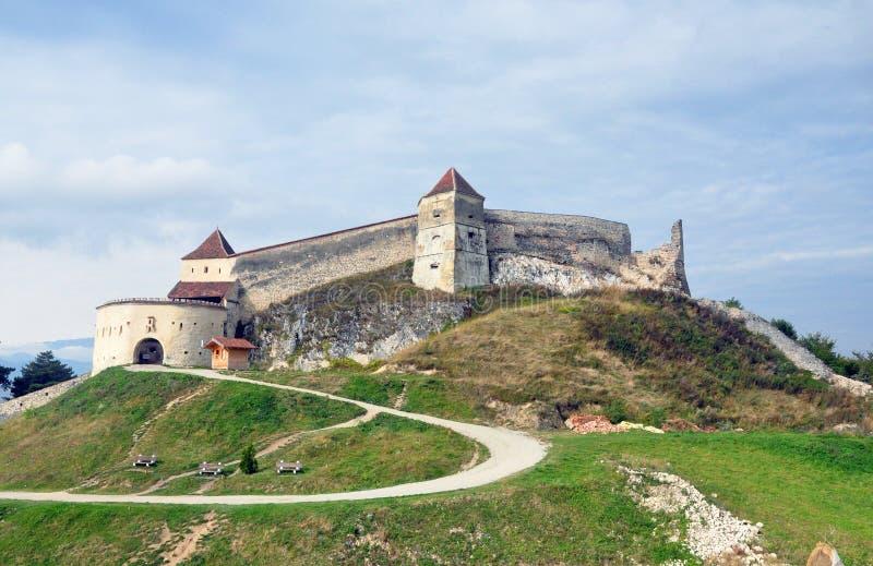 Rasnov城堡 免版税库存图片