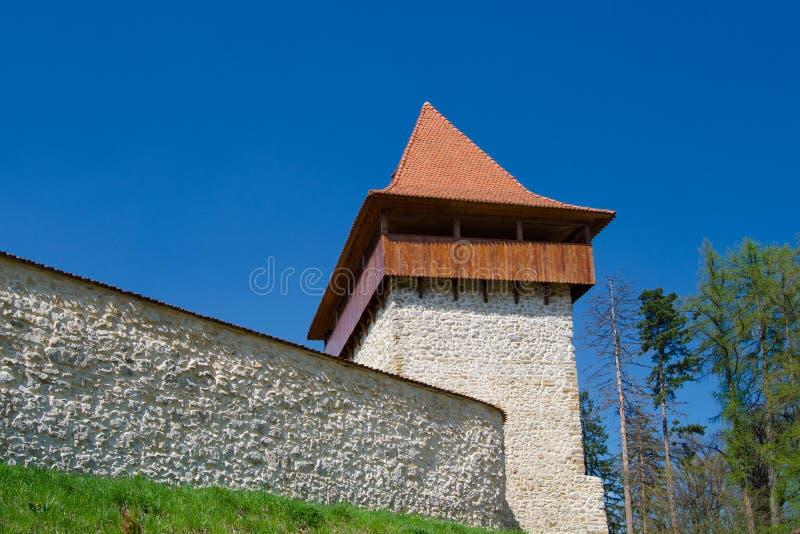 从Rasnov堡垒的古老塔 免版税库存图片