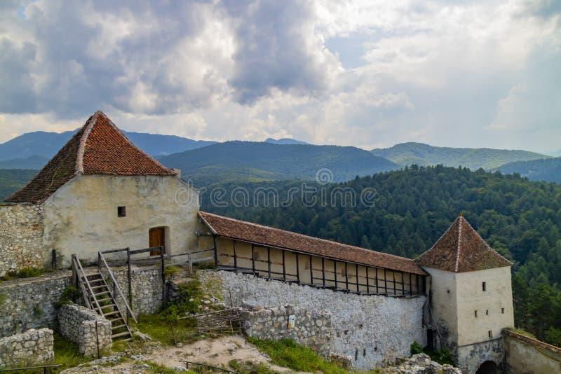 Rasnov Castle, Romania stock image