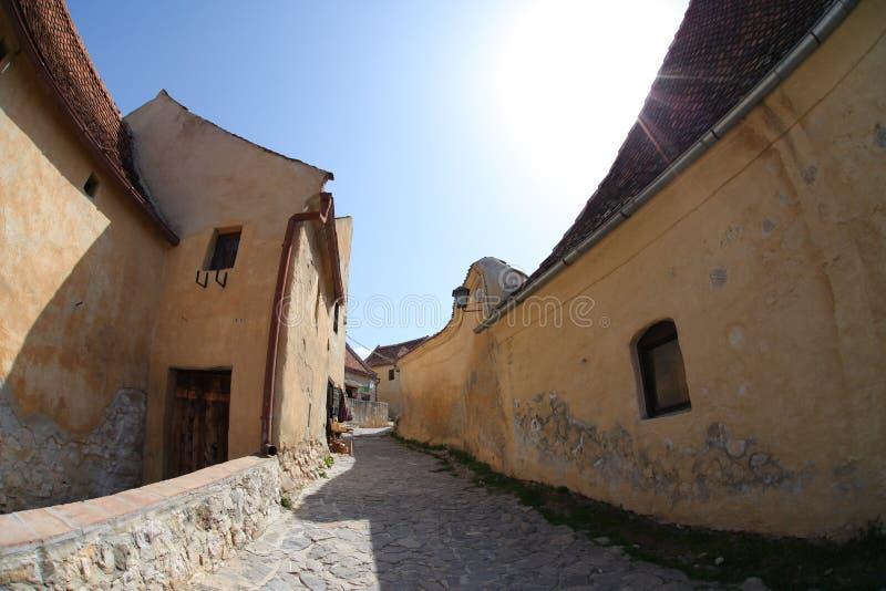 Rasnov Citadel, Brasov County, Romania stock photography