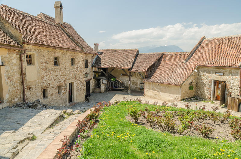 Rasnov Citadel. Is a historic monument and landmark in Romania. The medieval citadel of today is considered to be built between 1211 and 1225 stock image