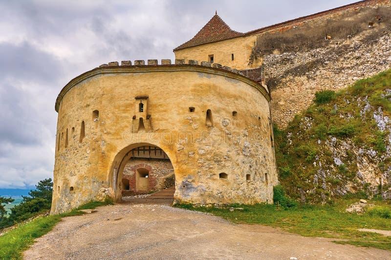 Rasnov citadell i Rumänien arkivbilder