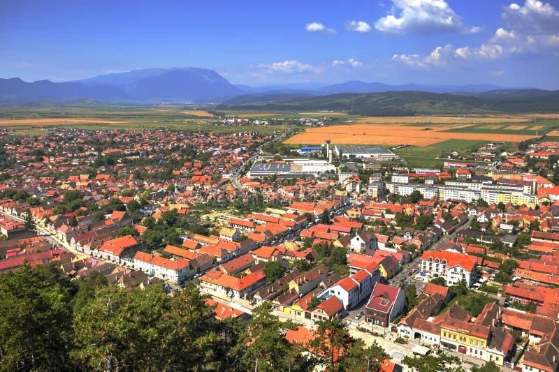 Rasnov city, Romania royalty free stock image
