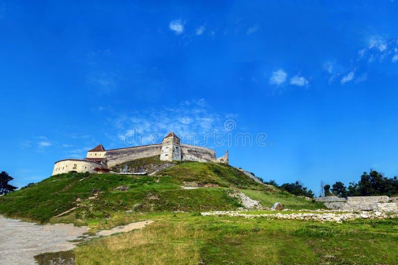 Rasnov fästning royaltyfri foto
