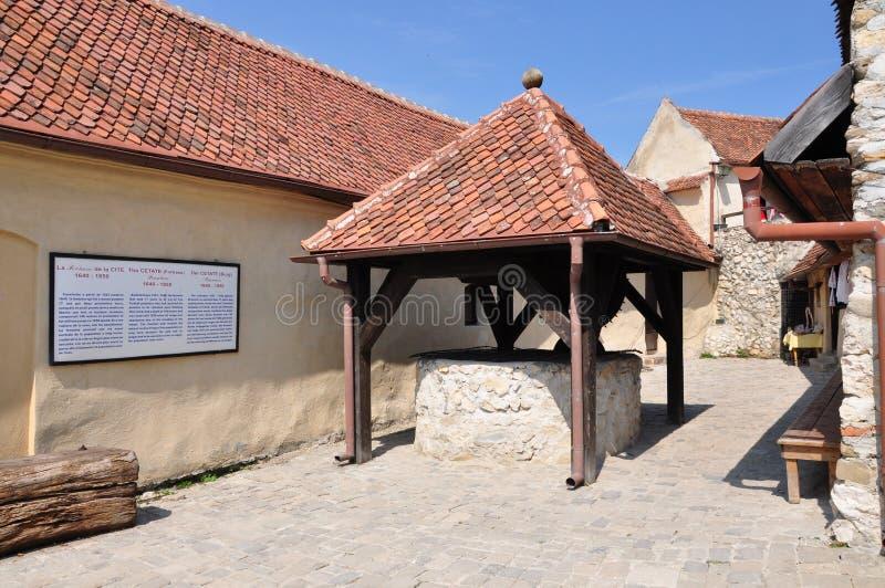 Rasnov fästning arkivbild