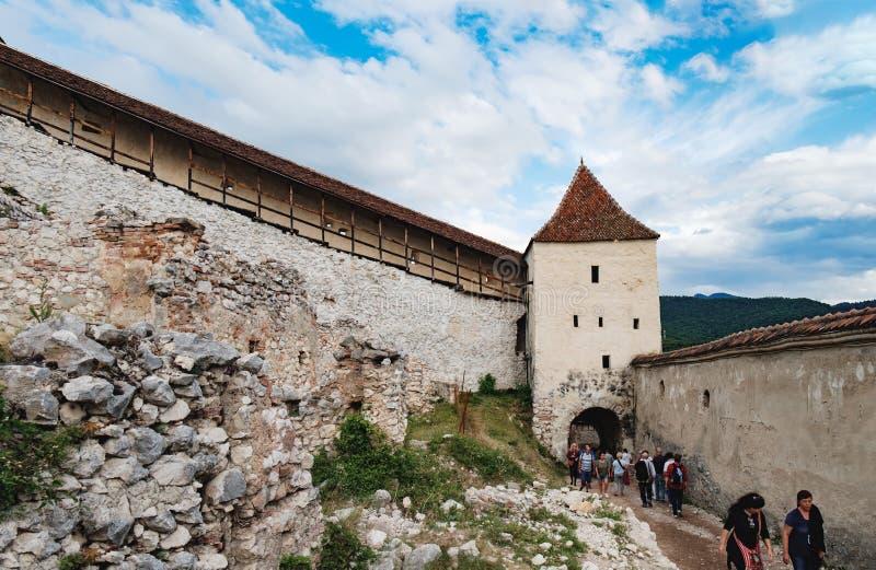 Rasnov Festung in Rumänien lizenzfreies stockfoto