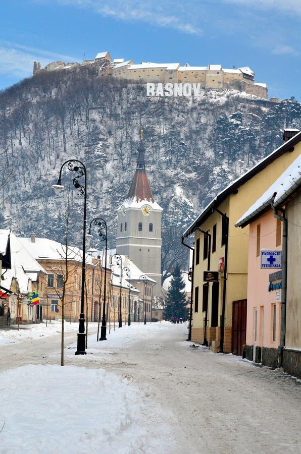 Rasnov forteca w Transylvania zdjęcia stock
