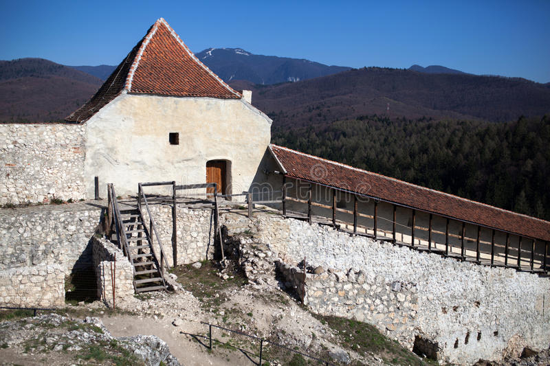 Rasnov fortress. Rasnov citadel was built around the year 1215 by the Teutonic Knights, near Brasov in Romania royalty free stock photos