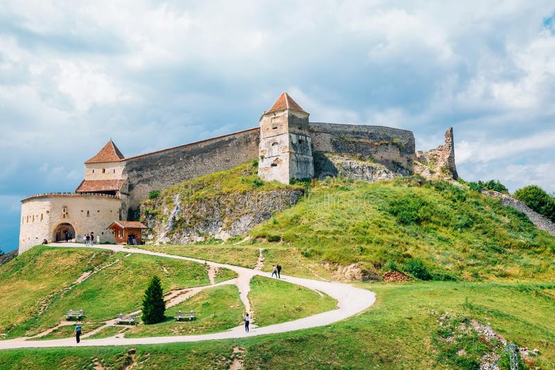 Rasnov Fortress in Rasnov, Romania. Ruins royalty free stock photography