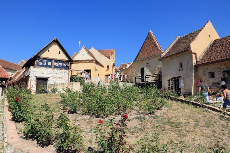 Rasnov, Rumänien stockbilder