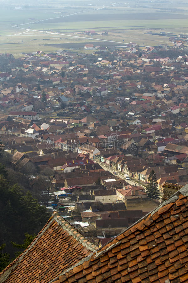 Rasnov Stadt stockbild
