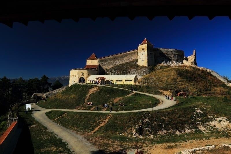 Rasnov Transylvania, Brasov, Rumänien royaltyfria foton