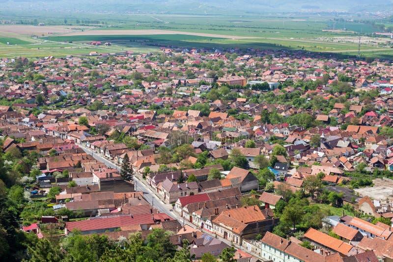 Rasnov village stock image