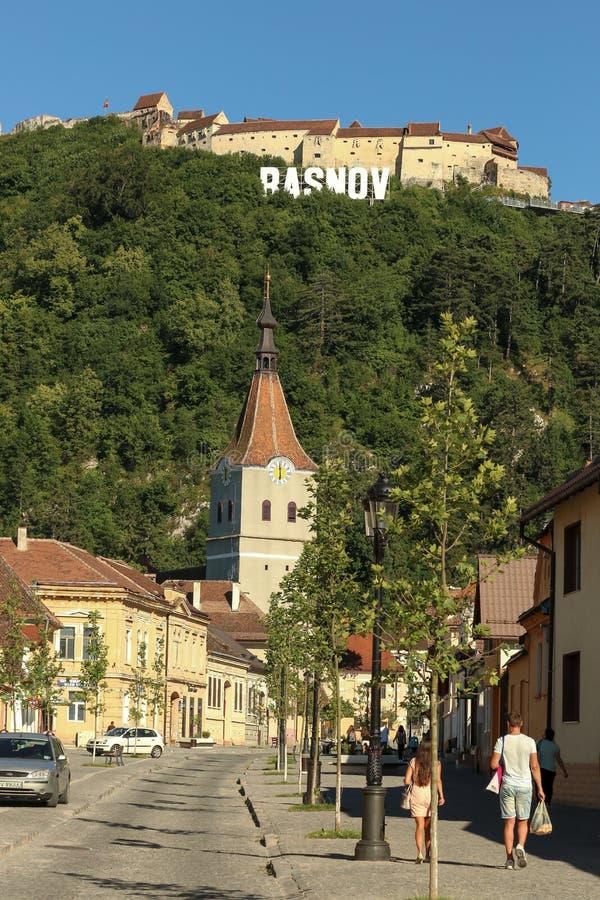 Rasnov Zitadelle stockbild