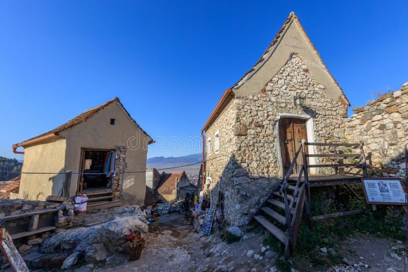 Rasnov-Zitadelle mittelalterlich Transylvanien, Rumänien lizenzfreie stockfotografie