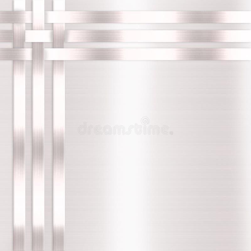 Raso di bianco dell'invito di anniversario di cerimonia nuziale illustrazione di stock