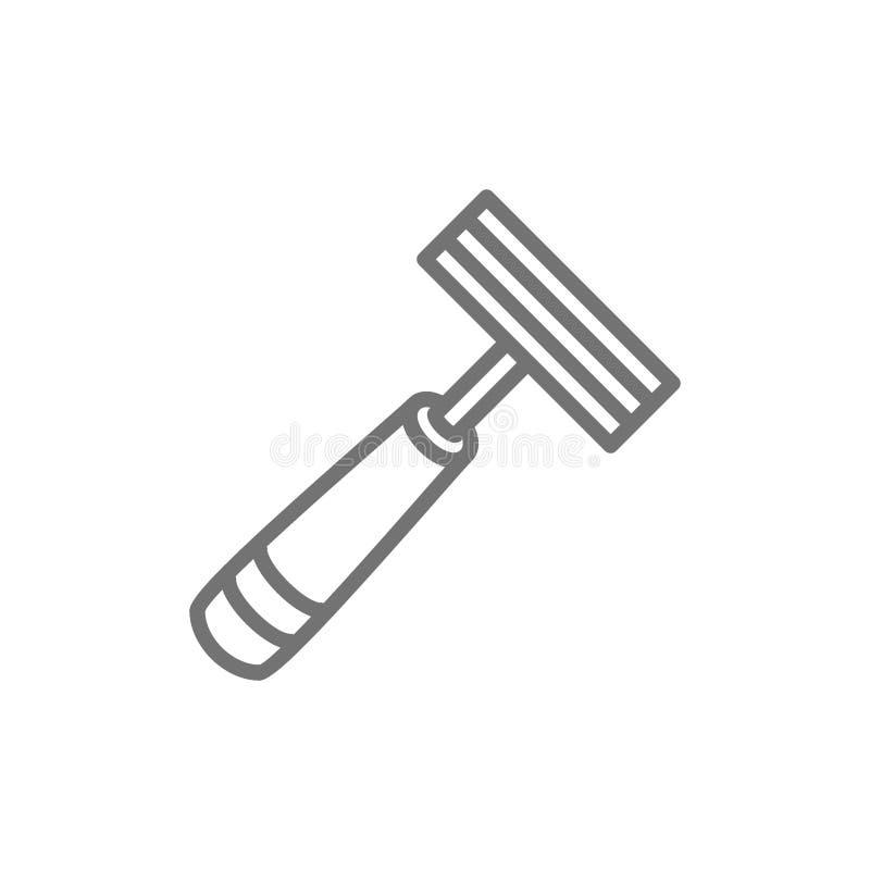Rasoio eliminabile, linea icona della macchina per ugualizzare illustrazione di stock
