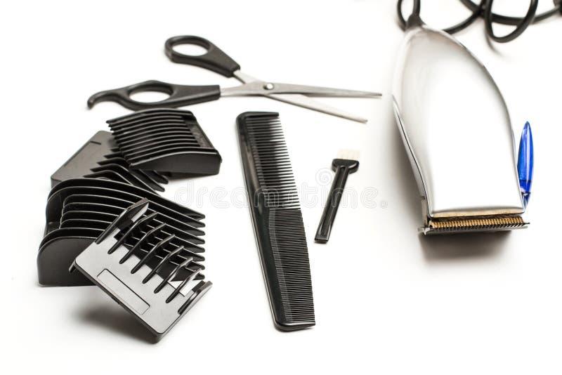 Rasoir électrique et accessoires image stock