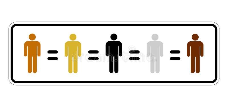 Rasowa równość royalty ilustracja
