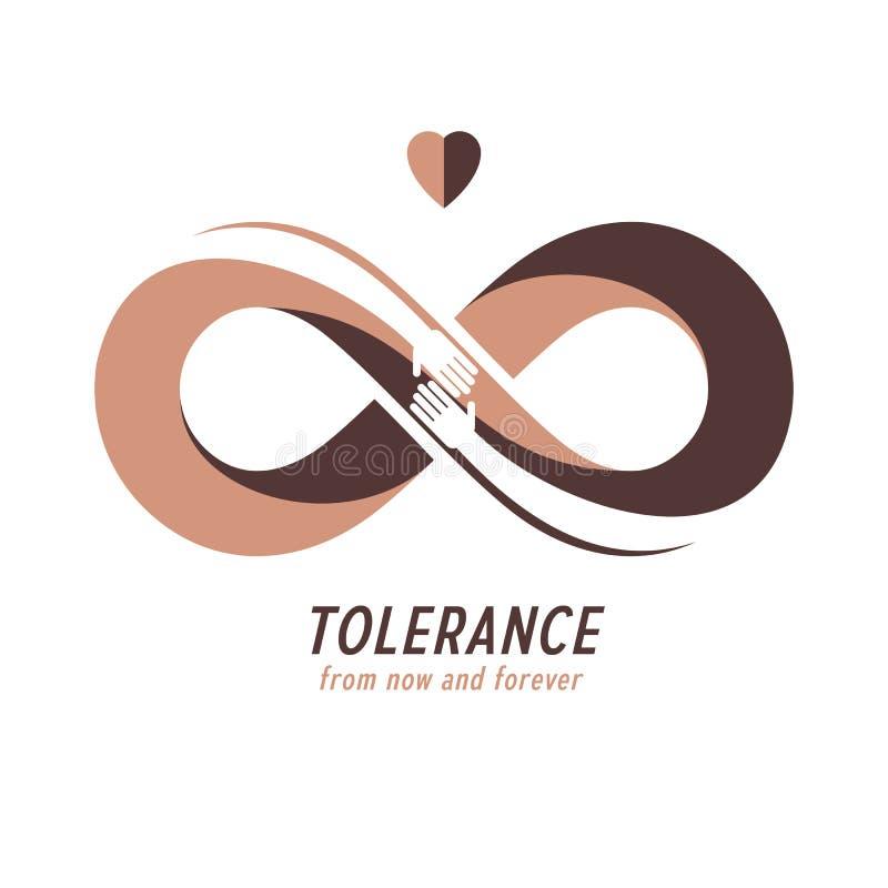 Rasowa tolerancja między różnych narodów konceptualnym symbolem, Ma ilustracji