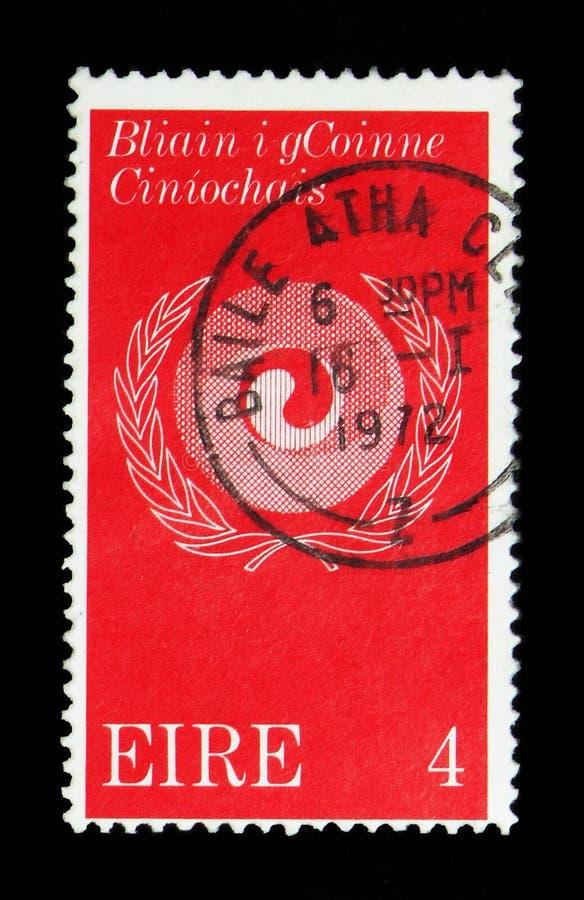 Rasowy harmonia symbol, Rasowy równość roku seria około 1971, zdjęcia royalty free