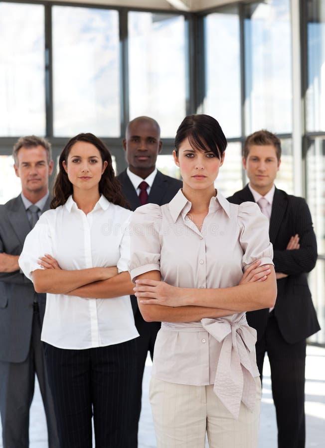 rasowy wielo- grupy biznesowej potrait zdjęcia royalty free