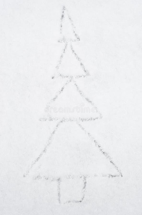 Raspa de arenque del dibujo en nieve fotos de archivo