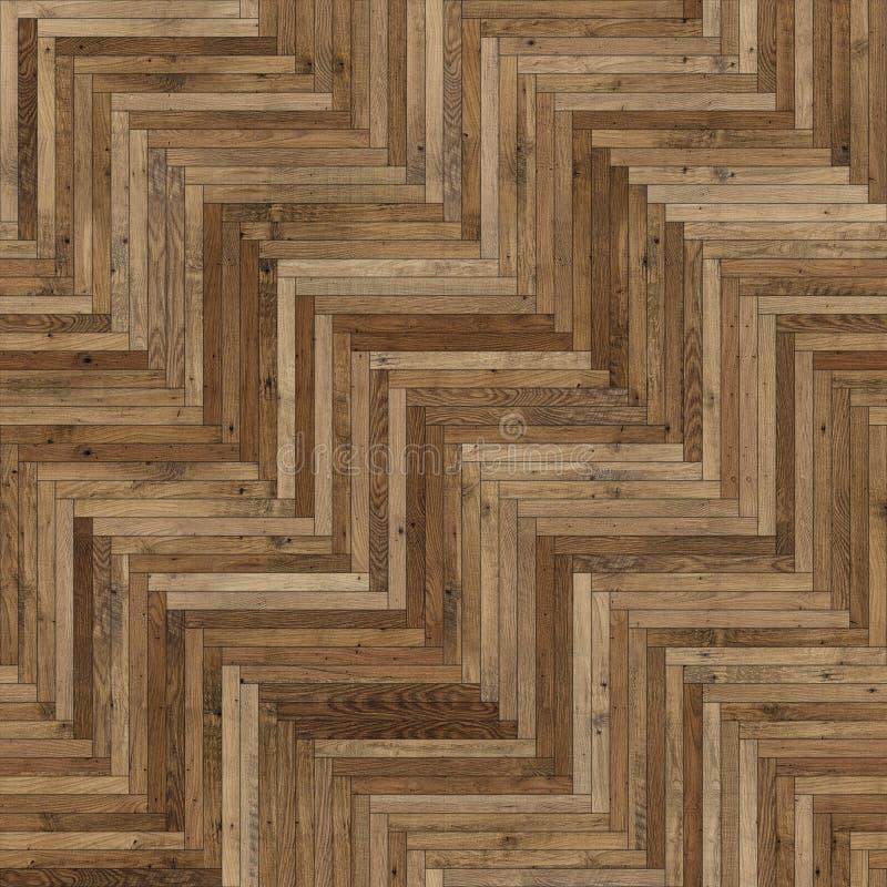 Raspa de arenque de madera incons?til de la textura del entarimado marr?n clara fotos de archivo libres de regalías