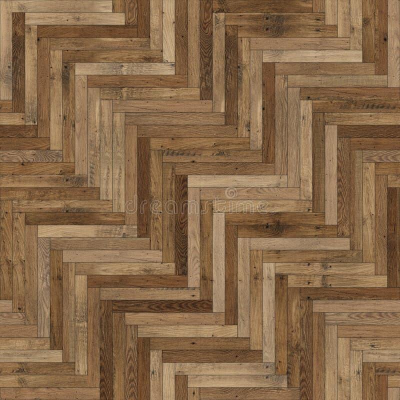 Raspa de arenque de madera incons?til de la textura del entarimado marr?n clara imagen de archivo libre de regalías