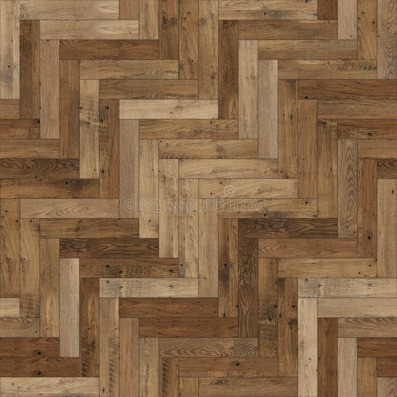 Raspa de arenque de madera incons?til de la textura del entarimado marr?n clara foto de archivo