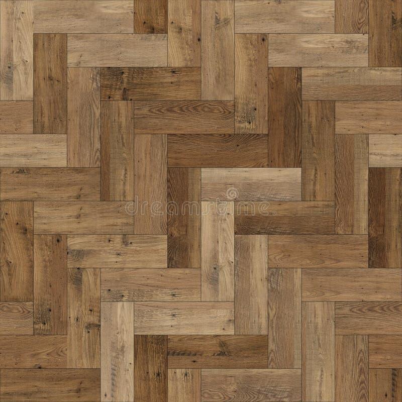 Raspa de arenque de madera incons?til de la textura del entarimado marr?n clara imagen de archivo