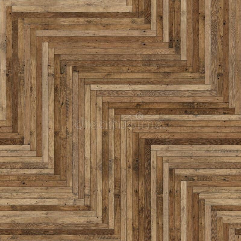 Raspa de arenque de madera incons?til de la textura del entarimado marr?n clara foto de archivo libre de regalías