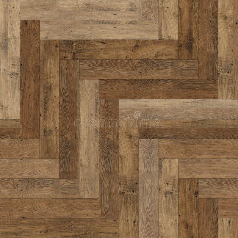 Raspa de arenque de madera incons?til de la textura del entarimado marr?n clara fotografía de archivo libre de regalías