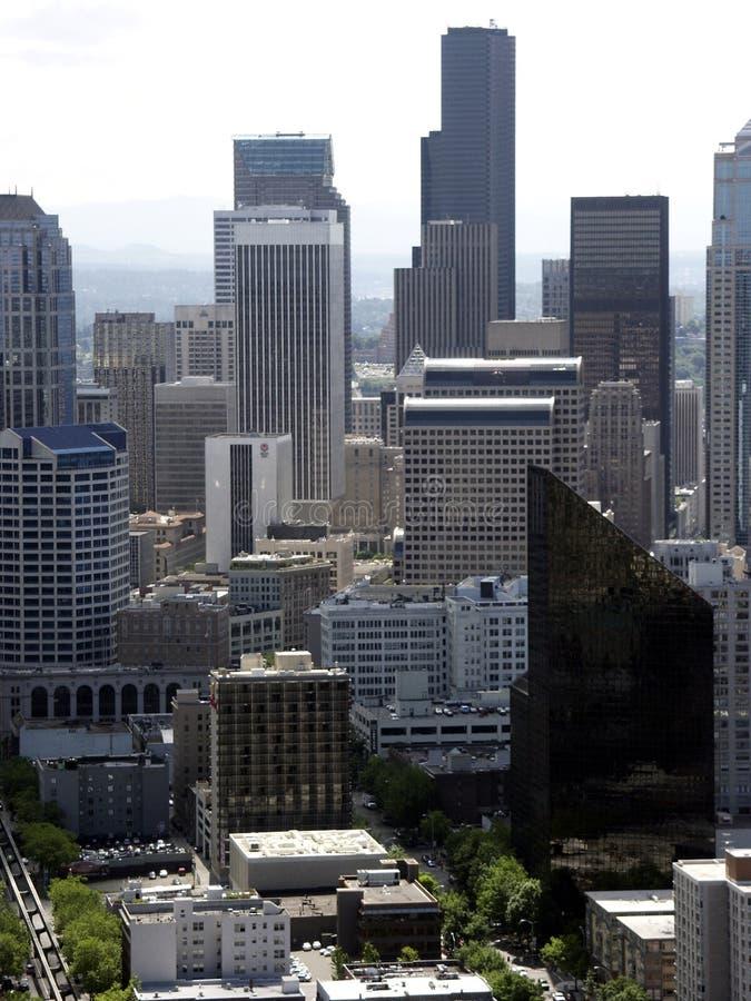 Raspadores de Seattle imagenes de archivo