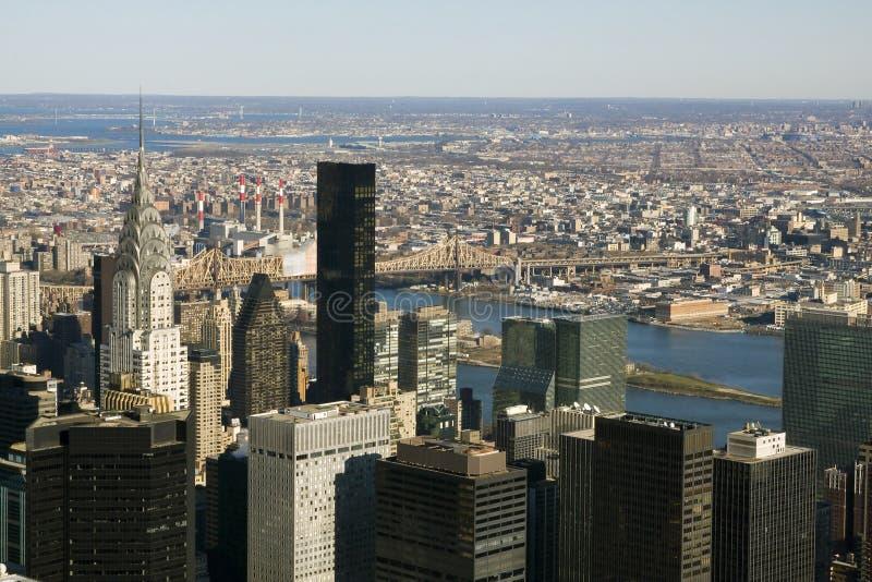 Raspadores del cielo de Nueva York fotografía de archivo libre de regalías
