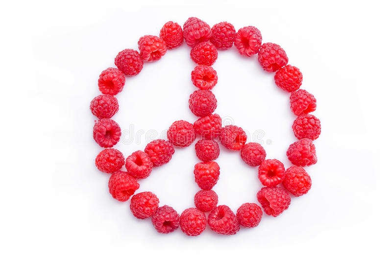 Download Raspberries Arranged In The Shape Of The Symbol Of Stock Image - Image: 15819291