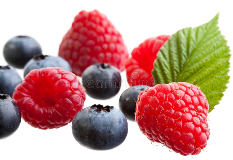 Download Raspberries And Blueberries Royalty Free Stock Photos - Image: 10450908