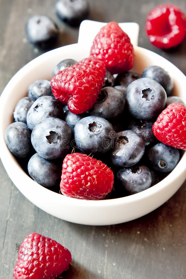 Download Raspberries And Blueberries Stock Photo - Image: 43385010