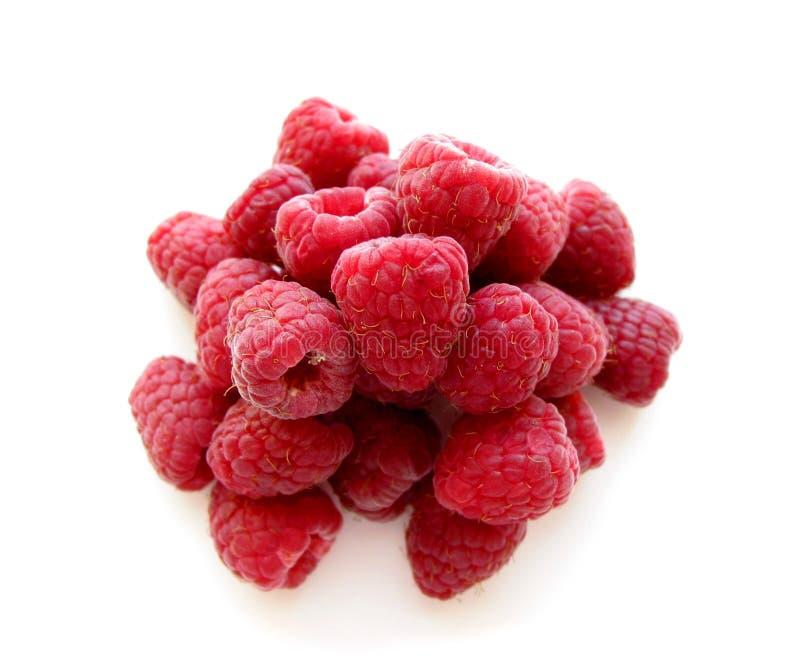 Raspberries on white 2 royalty free stock image