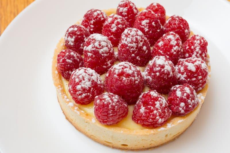Raspberry Almond Frangipane Tart royalty free stock photos