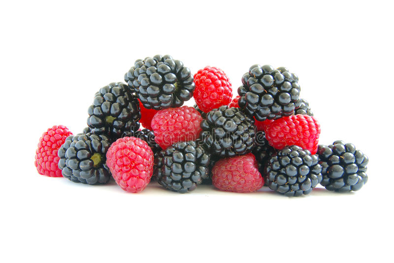 Download Raspberry and blackberry stock photo. Image of contrast - 15838660