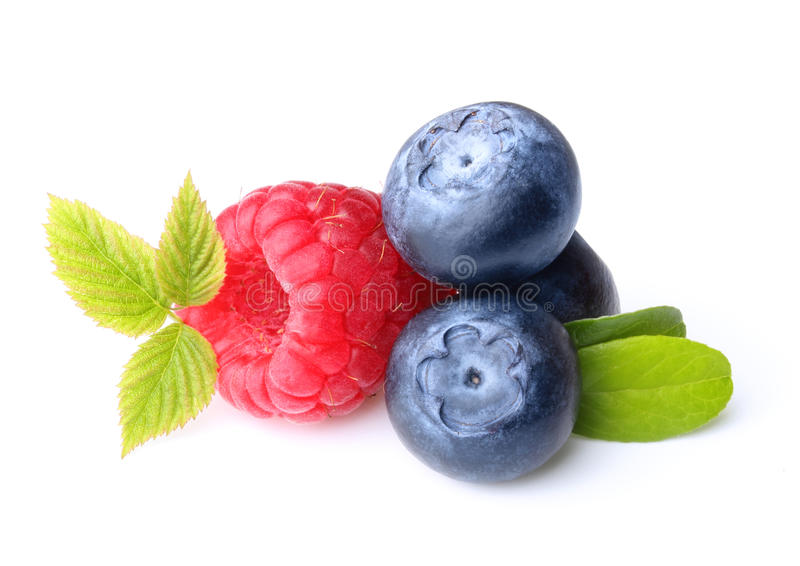 Download Raspberry And Blueberry Isolated Stock Image - Image: 42257793