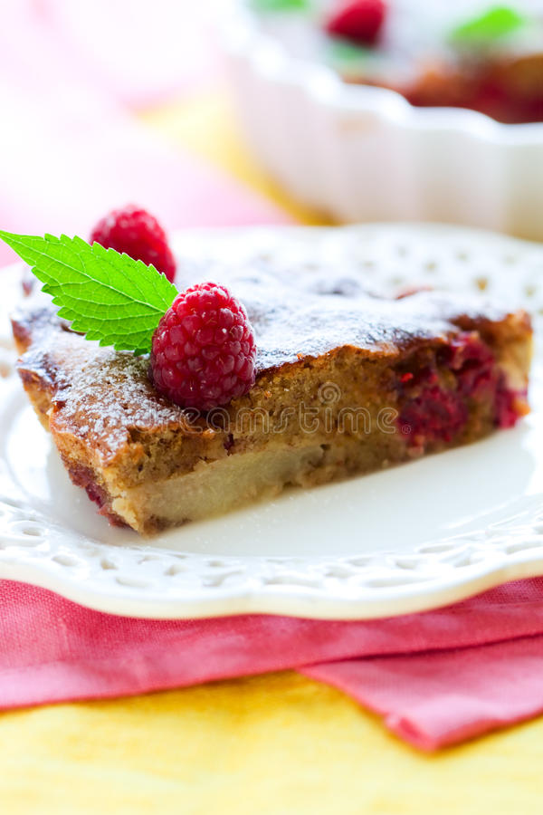 Raspberry cake royalty free stock photo