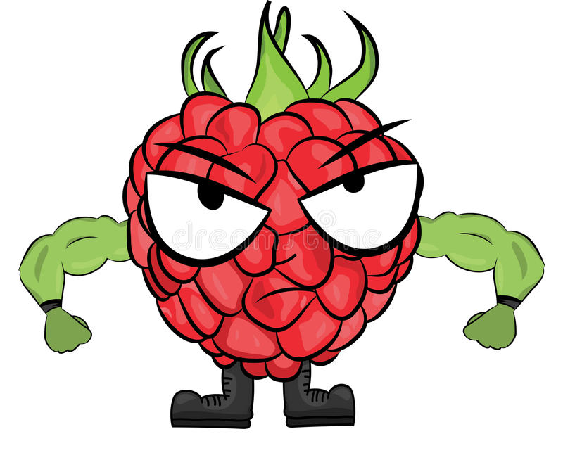 Raspberry cartoon character stock illustration