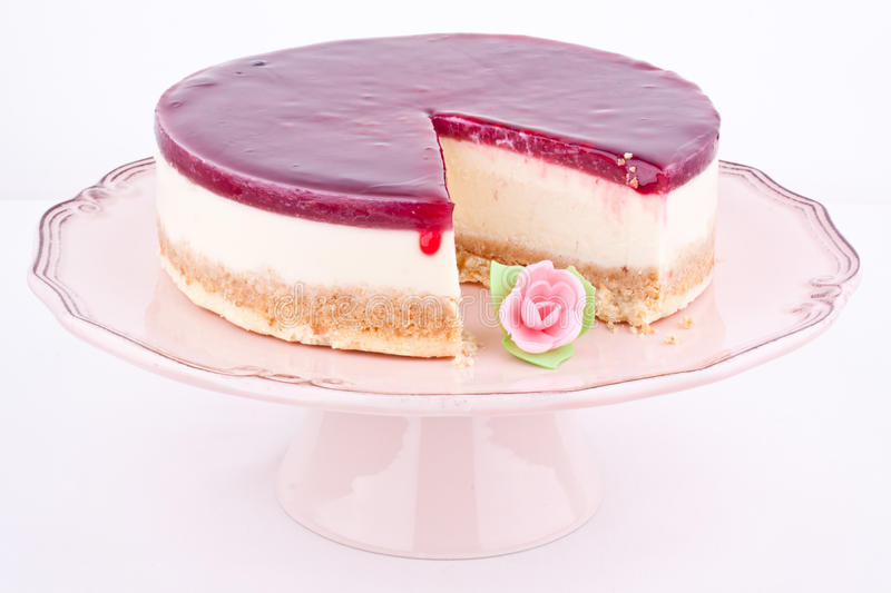 Download Raspberry cheesecake stock image. Image of layer, closeup - 25398355
