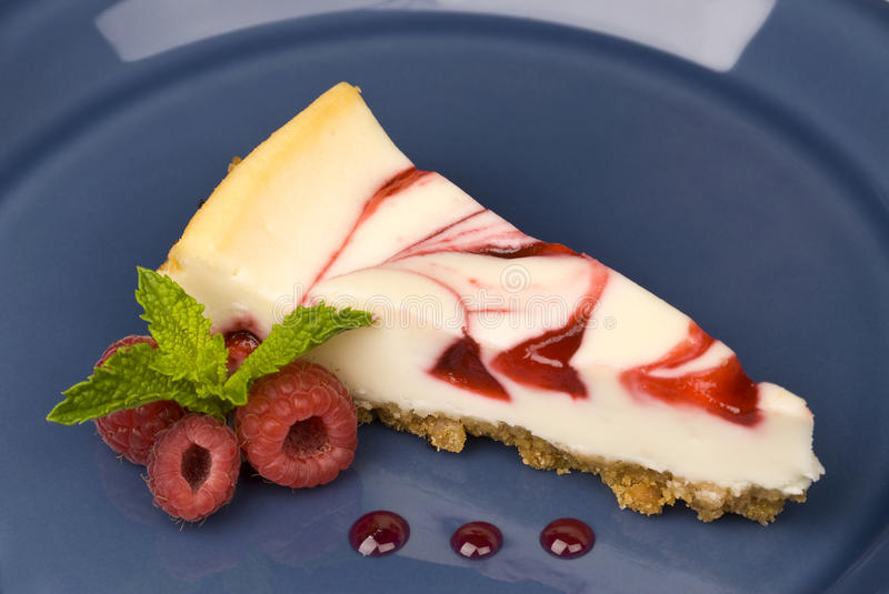 Download Raspberry cheesecake stock photo. Image of plate, pink - 9586924