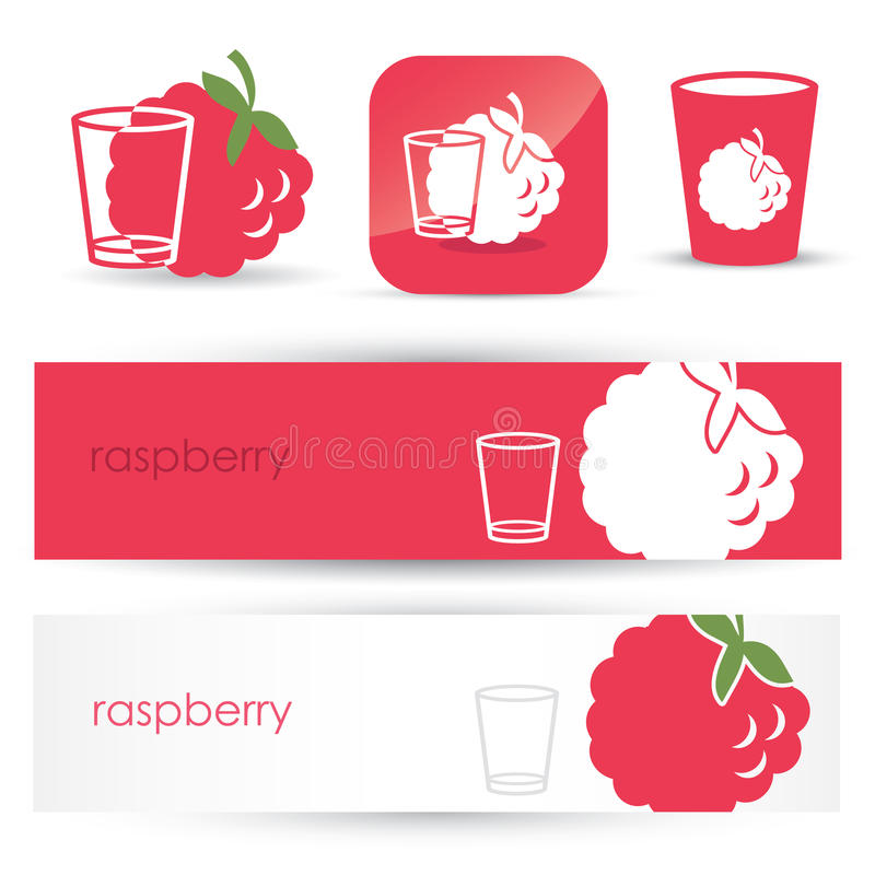 Raspberry Headers And Signs Royalty Free Stock Images