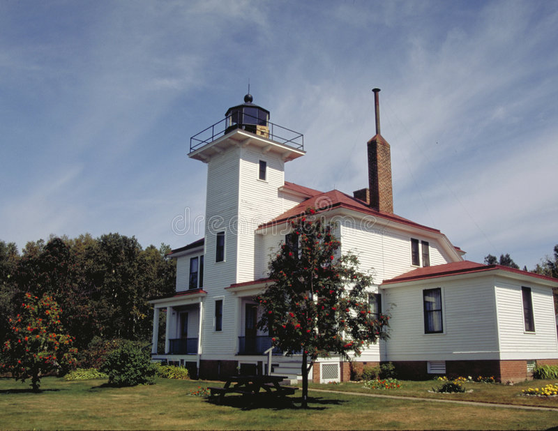 Raspberry Island Lighthouse stock images